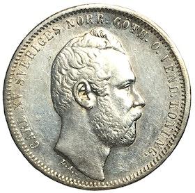 Karl XV - 1 Riksdaler riksmynt 1860 - TILLTALANDE EXEMPLAR