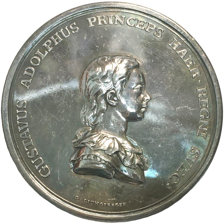 Kronprins Gustav (IV) blir kansler för Uppsala universitet 1785 av Ljungberger, Extremt sällsynt