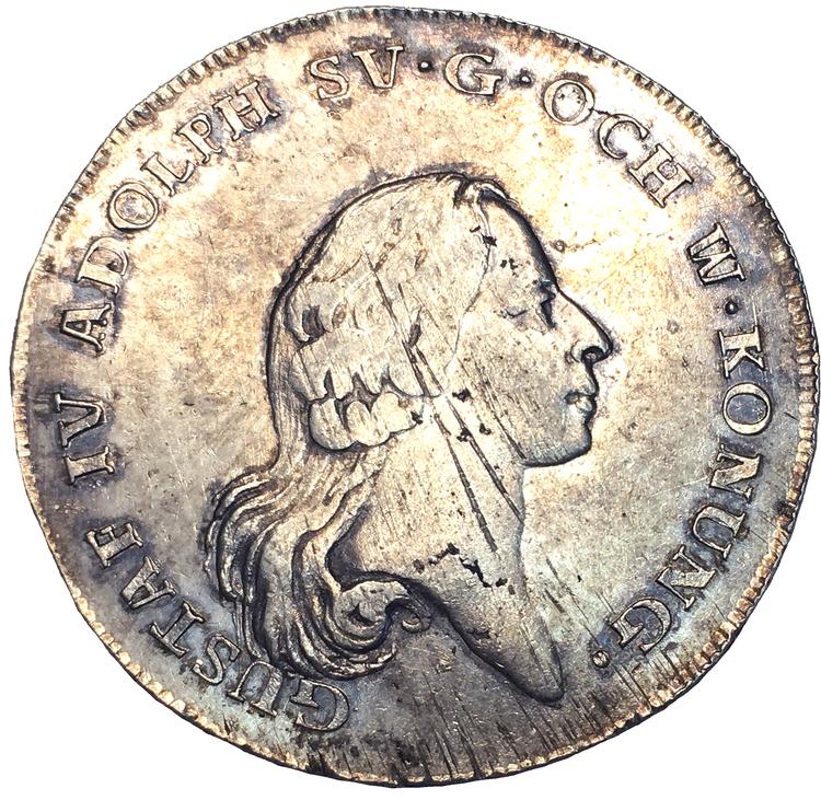 Gustav IV Adolf - Riksdaler 1796