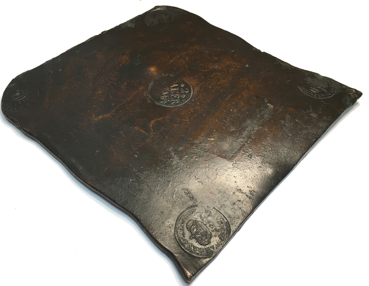 Karl XI - Plåtmynt 2 Daler SM 1675 - Osedvanligt välbevarat exemplar