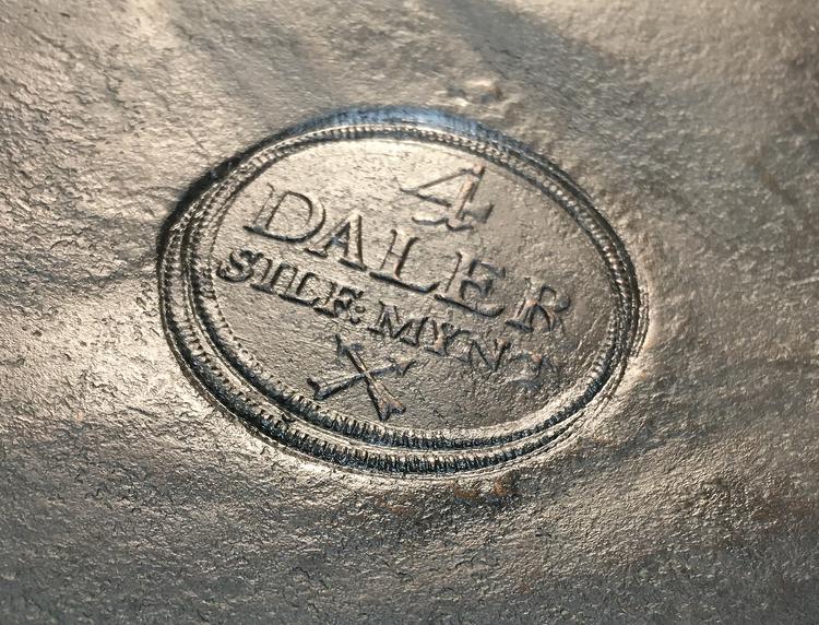 Fredrik I - Plåtmynt - 4 Daler SM 1721- Vackert och tilltalande exemplar