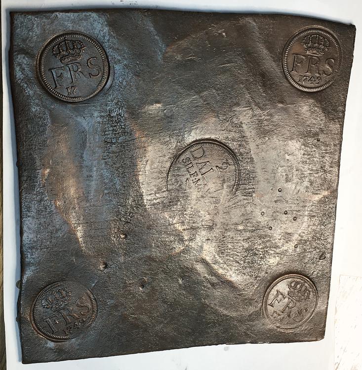 Fredrik I - Plåtmynt - 2 Daler SM 1749- Osedvanligt vackert exemplar