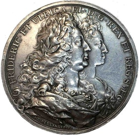 Sverige, Fredrik I - Kungahusets ära och lycka 1723 av J.C. Hedlinger