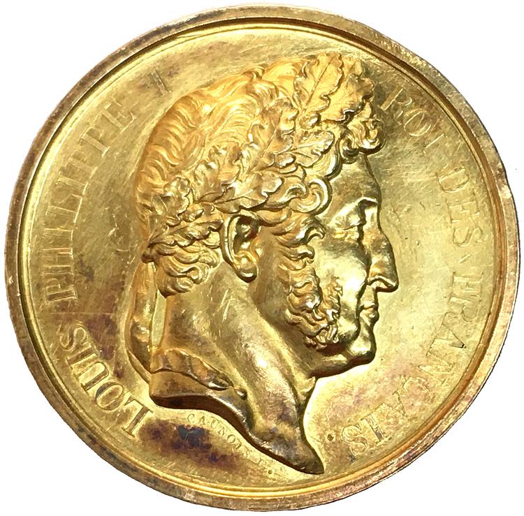 Frankrike, Louis Philippe 1830-1848, Kunglig belöningsmedalj i guld RR