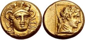 Lesbos Mytilene, Elekron Hekte ca 375-325 f.Kr - Vacker och Sällsynt