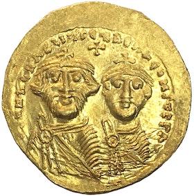 Bysantinska riket, Heraclius 610-641 e.Kr  Solidus - OCIRKULERAT EXEMPLAR