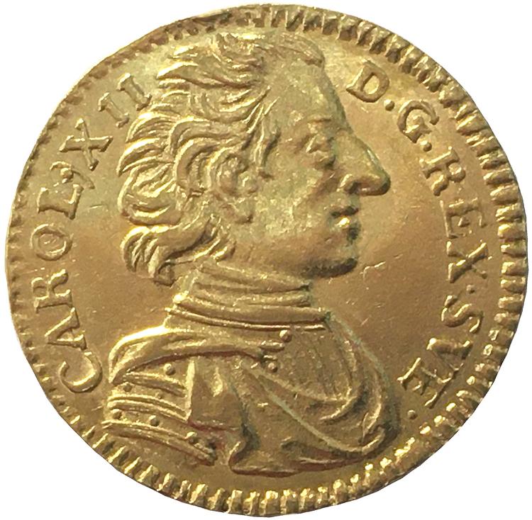 Karl XII, Dukat 1714 - VACKERT OCH TILLTALANDE EXEMPLAR