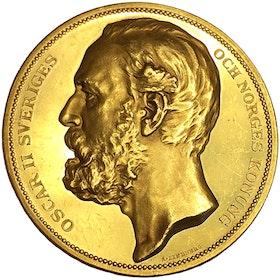 Sverige - Guld - Oskar II - Sextonde allmänna svenska lantbruksmötet i Stockholm 1886 - XR