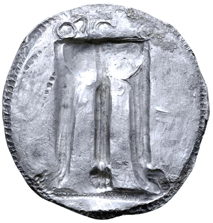 Bruttium, Kroton, Stater ca 530-500 f.Kr - Mycket vackert och tilltalande exemplar med bevarad präglingsglans