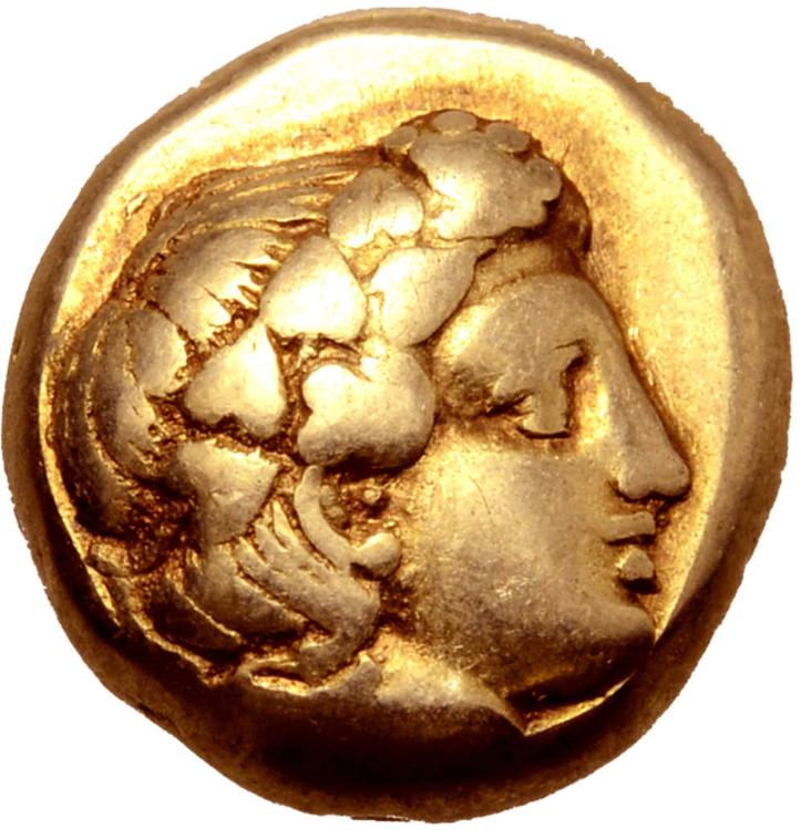 Lesbos, Mytilene, Hekte, guld, ca 375-326 f.Kr.