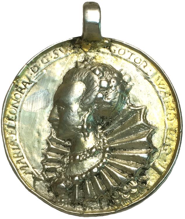 Gustav II Adolf och Maria Eleonora - Minnespenning från 1620-talet