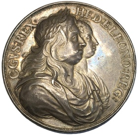 Sverige - Karl X Gustav & Hedvig Eleonora med sonen Karl XI  präglad ca 1680 - RRR