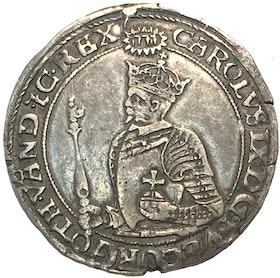 Karl IX - 1 Mark 1608 - Ett mycket trevligt och välpräglat exemplar