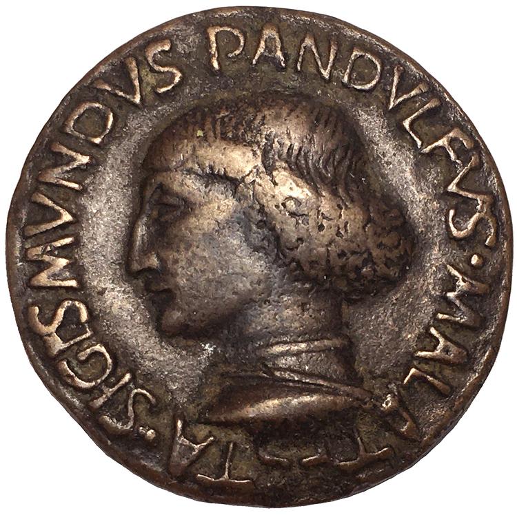 SIGISMONDO PANDOLFO MALATESTA, Signore di Rimini (1417-1468) Medalj år 1447