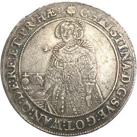 Kristina - Riksdaler Sala 1640 - tilltalande exemplar med fin lyster