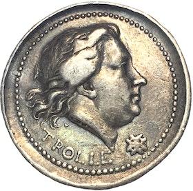 Henrik af Trolle,  (1730-1784) Generalamiral i svenska flottan - minnesmedalj i silver utdelad 1784 graverad av Fehrman - MYCKET SÄLLSYNT!