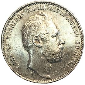 Karl XV - 1 Riksdaler riksmynt 1871/61