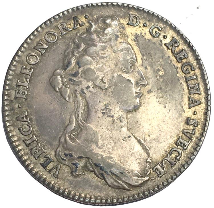 Ulrika Eleonora 2 Mark 1719 - Ett trevligt tilltalande exemplar