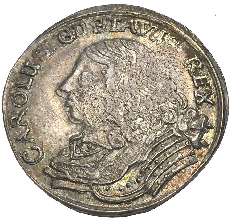 Karl X Gustav 2 Mark 1660 med liten 0:a RR - Ett av de bästa exemplaren
