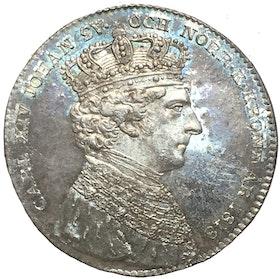 Karl XIV Johan - kastmynt 1818 till kröningen - ett av de bästa existerande exemplaren!