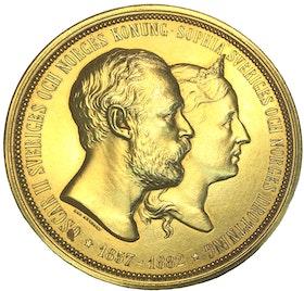 Oskar & Sofia 1857-1882 - 25 årsjubileum av bröllopet av Lea Ahlborn - Guldförgylld XR