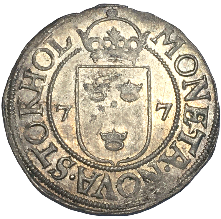 Johan III - 1/2 Öre 1577 - Ett ocirkulerat toppexemplar