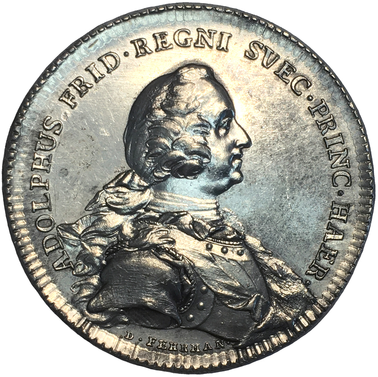 Tronföljaren Adolf Fredrik inrättar en kadettskola för unga adelsmän 1748 av Daniel Fehrman - RR