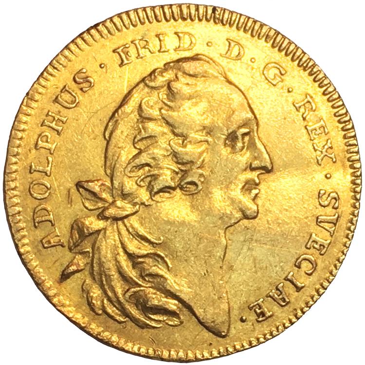 Adolf Fredrik dukat 1763 - 13 kända i privat ägo