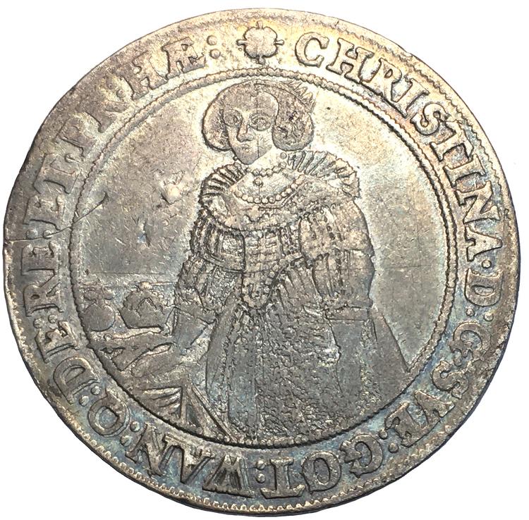 Kristina, Sala, Riksdaler 1640 - Trevligt exemplar