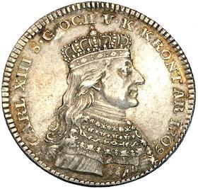 Karl XIII - Kastmynt till kröningen 1809 - Ett tilltalande exemplar