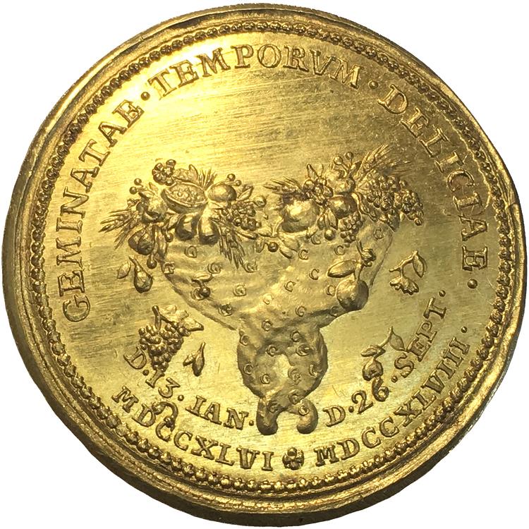 Adolf Fredrik - 10 dukater 1748 - Guldmedalj - UNIK i privat ägo - Pris på förfrågan!