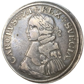 Karl XI - 8 Mark 1664 - Typmynt - Ett praktfullt stormynt av den första årgången