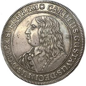 Karl X Gustav Riksdaler 1654 - Vackert exemplar med stämpelglans