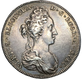 Ulrika Eleonora Riksdaler 1719 Toppexemplar med nästan full glans