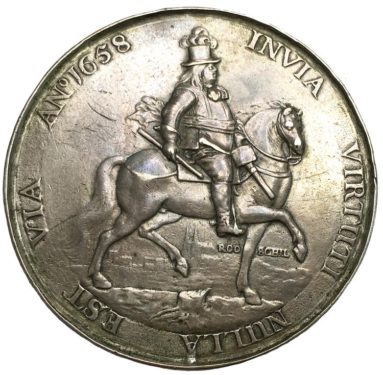 Karl X Gustav - Tåget över stora bält den 30 januari 1658 - PRAKTEXEMPLAR - MYCKET SÄLLSYNT av av Pieter van Abeele