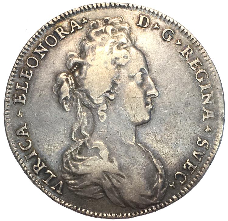 Ulrika Eleonora Riksdaler 1719 - Ett jämnt, fint och tilltalande exemplar