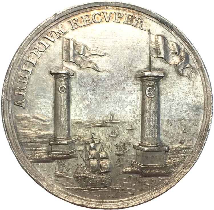 Danskarna erövrar Helsingborg i juni 1676 - RR - Sällsynt och vacker bataljmedalj av Christian Schneider