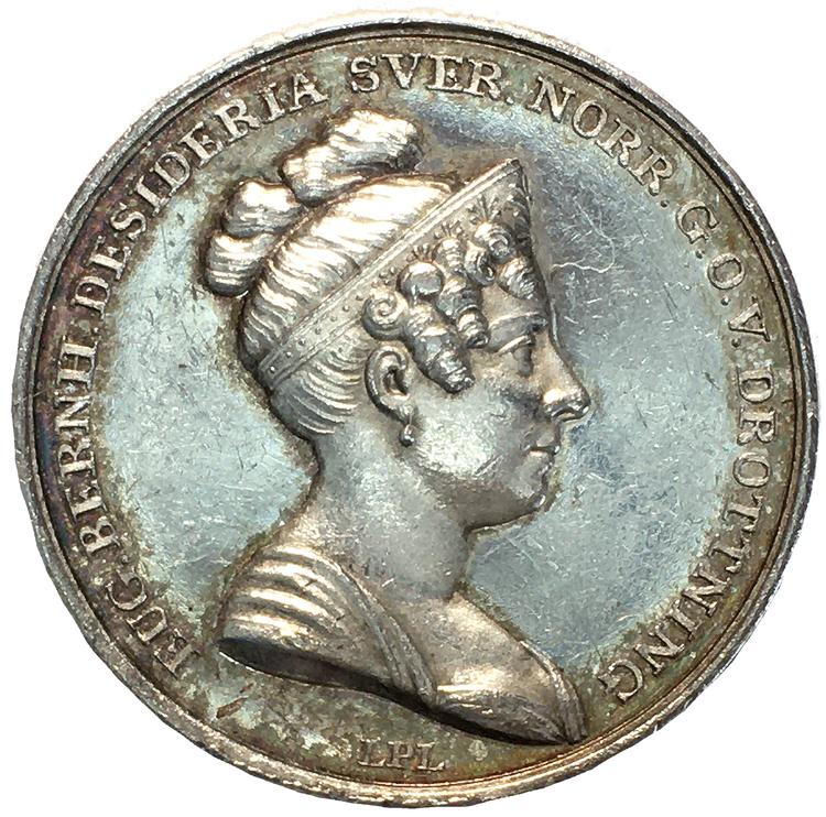 Drottning Desiderias kröning den 21 augusti 1829 av Ludvig Persson Lundgren