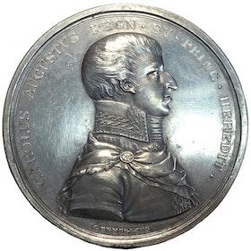 Kronprins Carl August adopterad av Karl XIII och vald till svensk tronföljare den 24 januari 1810 av Carl Enhörning - RR - MYCKET SÄLLSYNT