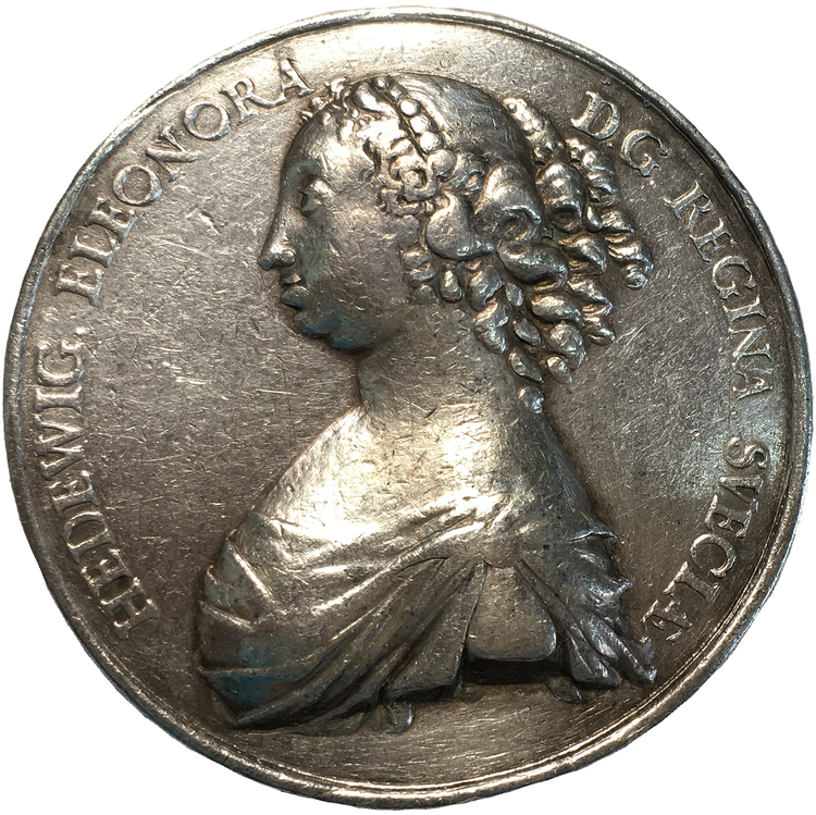 Hedvig Eleonora leder förmyndarregeringen av J. G. Breur - XR - Enda kända exemplaret i privat ägo
