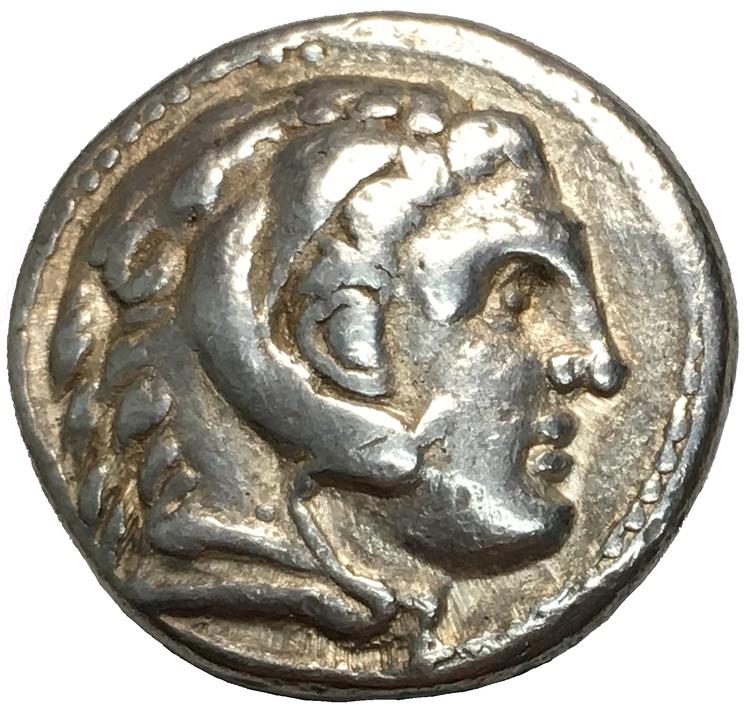 Grekland, Makedonien, Alexander III (Den Store) 336-323 f.Kr, Tetradrachm - BRA EXEMPLAR