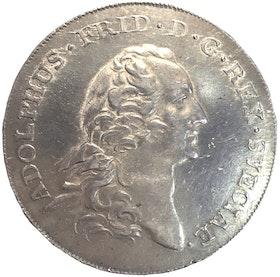 Adolf Fredrik Riksdaler 1766 - Ett tilltalande exemplar