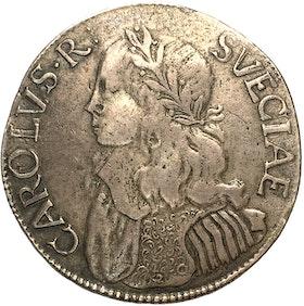 Karl XI - Mycket sällsynt 4 Mark 1664 - Liten kungakrona & krontyp 1 - RRR