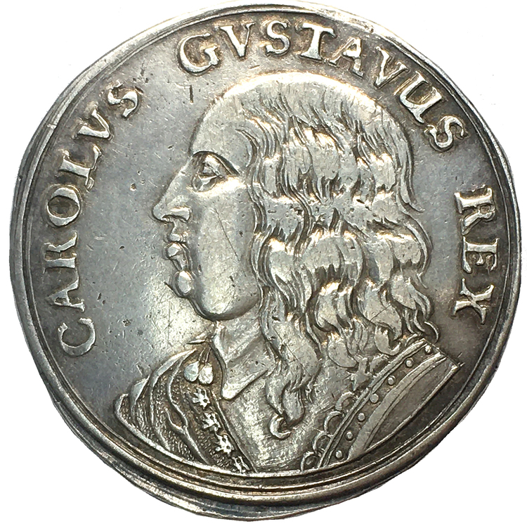 Karl X Gustav - Kastmynt 1654 - till Kröningen - Trevligt exemplar