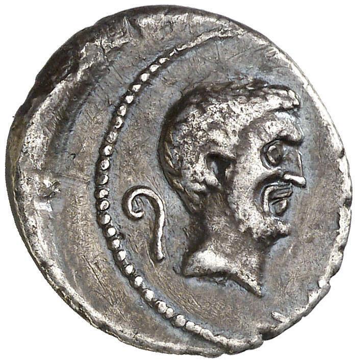 Markus Antonius och Julius Caesar - Vackert och mycket sällsynt, 43 f.Kr