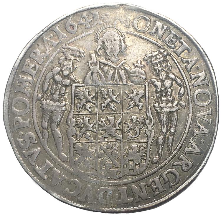 Kristina, Pommern, Taler 1641 - Tilltalande exemplar med vacker glans