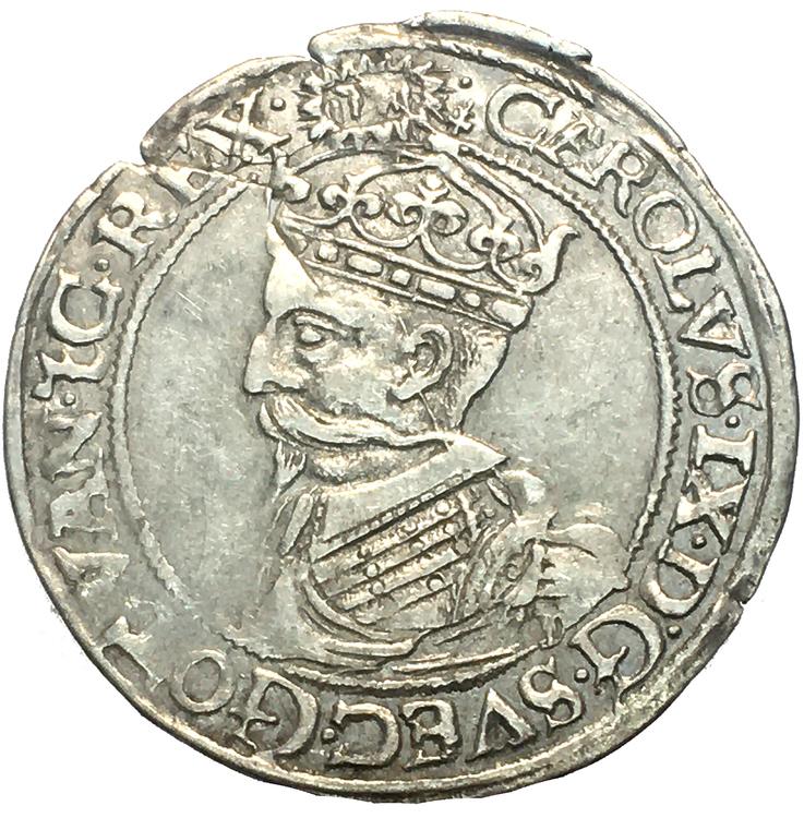 Karl IX, 4 öre / 1/2 Mark 1608 - Tilltalande exemplar, SÄLLSYNT