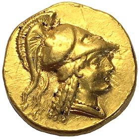 Alexander den Store, 336-323 f.Kr guldmynt - Stater - vackert exemplar med glans