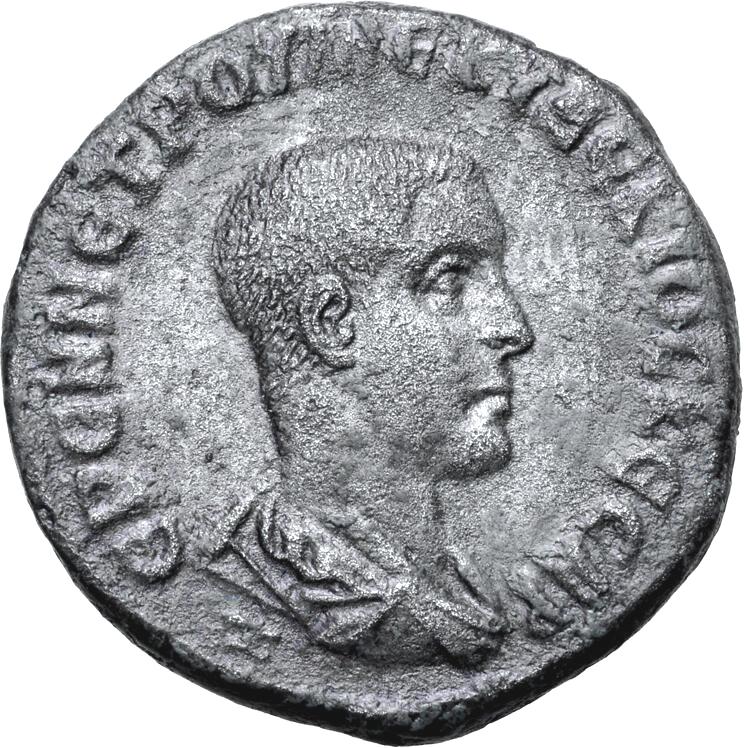 Romerska riket, Herennius Etruscus som Caesar 250-251 e.Kr., Seleucis and Pieria, Tetradrachm - SÄLLSYNT!