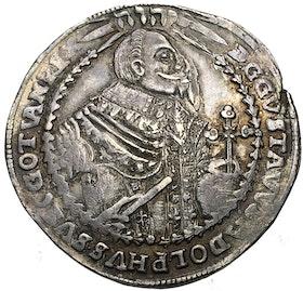 Gustav II Adolf, WÜRZBURG, Taler 1632 - Vackert exemplar med guldskimrande präglingsglans